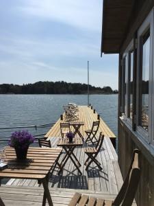 Vår nya brygga på restaurangen på Ankarudden Torö
